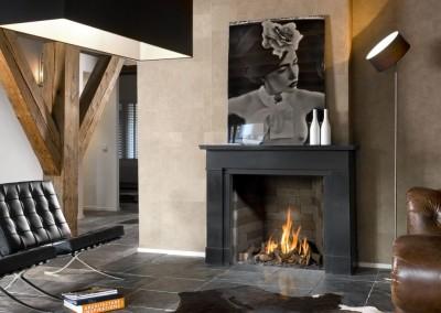 Foto: Brunner - Stil-Kamin Gas 65/70 Gemälde über den Flammen